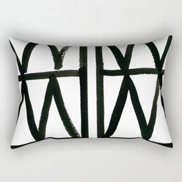 Brush and Ink II Mudcloth Pattern Rectangular Pillow