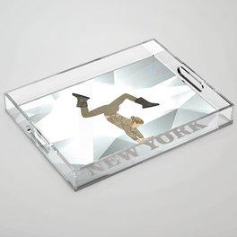 Gymnastics New York Acrylic Tray