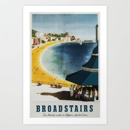 vintage poster Broadstairs Art Print