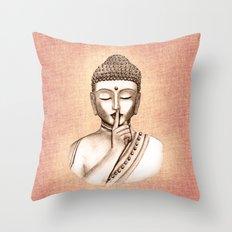 Buddha Shh.. Do not disturb - Colored version Throw Pillow