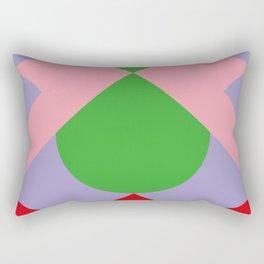 An upside down Pink Butterfly in a green, red and blue beautiful landscape. Green Sun. Rectangular Pillow