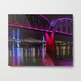 Three Bridges Over the Ohio Metal Print