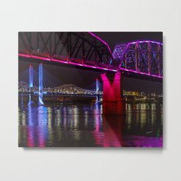Three Bridges Over the Ohio Metal Print