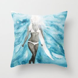 Surf Afterglow  Throw Pillow