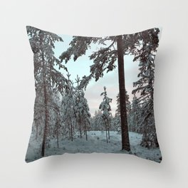 Morning Winter Light Throw Pillow