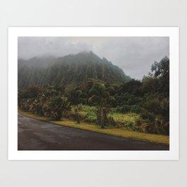 Rustic Mountains Art Print