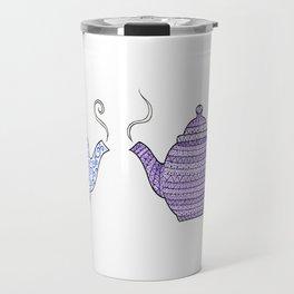 Patterned Teapots Travel Mug