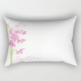 Sweet Pea Rectangular Pillow
