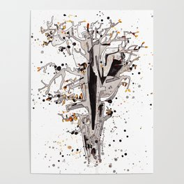 Squirrel in the Old Tree Poster