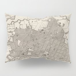 Vintage Map of Lima Peru (1764) Pillow Sham