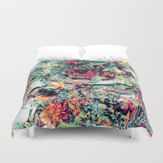 Flowers & Birds Duvet Cover