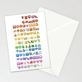 Emoji icons by colors Stationery Cards