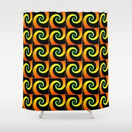 Bright Spirals Shower Curtain