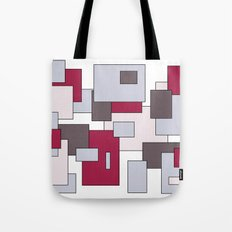 Squares - gray and purple. Tote Bag