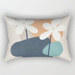 Abstract Flowers 3 Rectangular Pillow