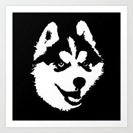 HUSKY DOG Art Print