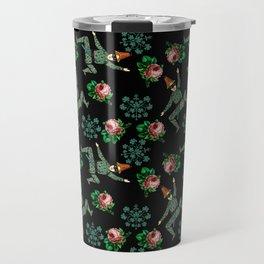 vintage jester floral pattern Travel Mug