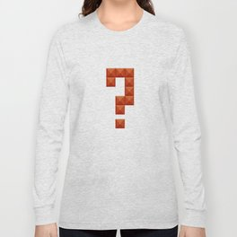Question mark print in beautiful design Fashion Modern Style Long Sleeve T-shirt