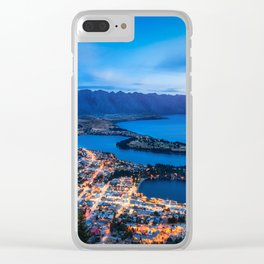 Queenstown City Lights from Skyline, New Zealand Clear iPhone Case