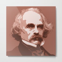 Nathaniel Hawthorne Metal Print