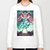 gurren lagann Long Sleeve T-shirts featuring Gurren Lagann - This Drill will pierce the Heavens by Brian Hollins art