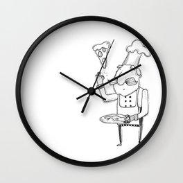 Mr Pizza Wall Clock