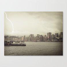 Hong Kong Lightning Bay Canvas Print