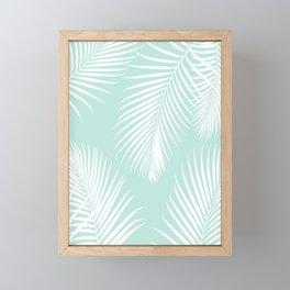 Mint Tropical Pattern Framed Mini Art Print