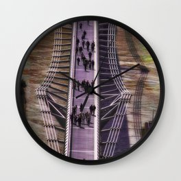 Passing by. Millennium Bridge (London) Wall Clock