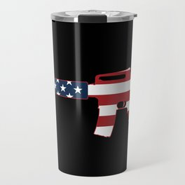 AR-15 Stars & Stripes Rifle Travel Mug