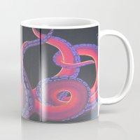 kraken Mugs featuring Kustom Kraken by Aries Art