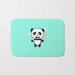 Panda Baseball Player with Ball T-Shirt D99m1 Bath Mat