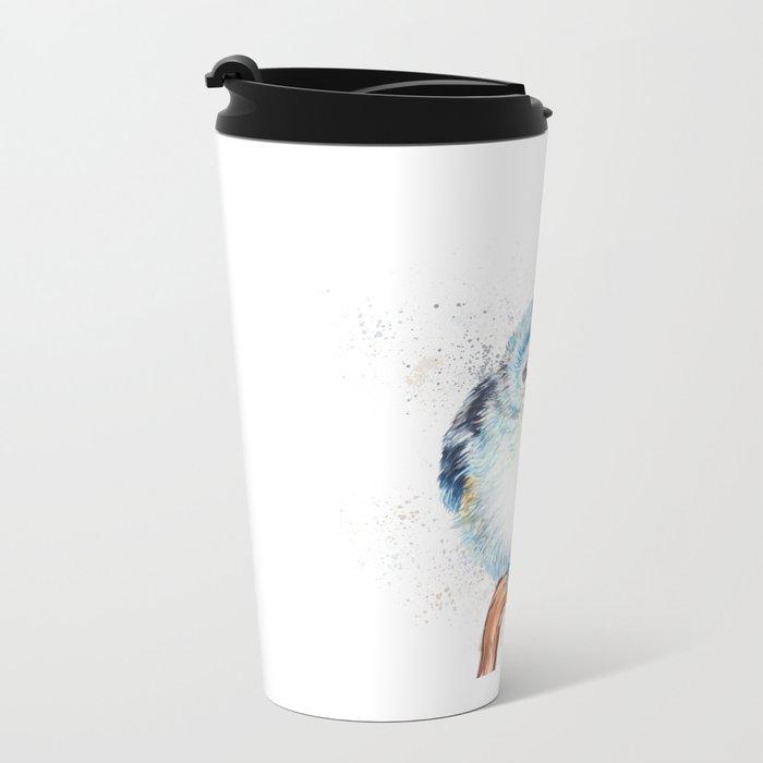Baby titmouse Metal Travel Mug