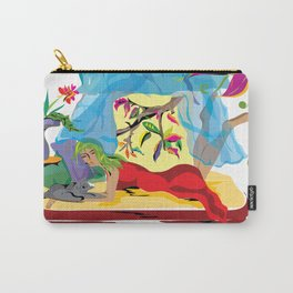"""Garden of Dreams"" Paulette Lust's contemporary, original, colorful, whimsical, art. Carry-All Pouch"