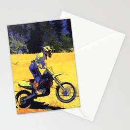 Riding Hard - Moto-x Champion Stationery Cards