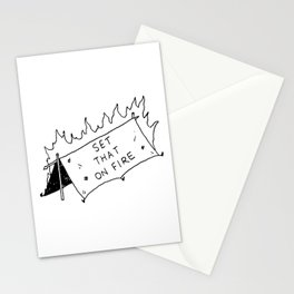 Set that on fire Stationery Cards