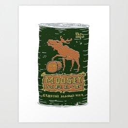 Moosey Malt Art Print