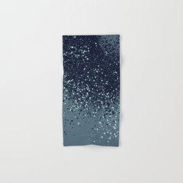 Sparkling Blue Summer Night Lady Glitter #3 #shiny #decor #art #society6 Hand & Bath Towel