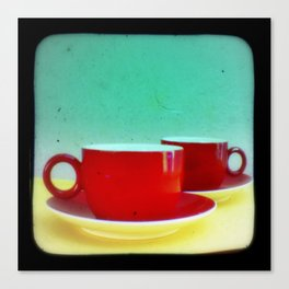 Red Coffee Cups Canvas Print
