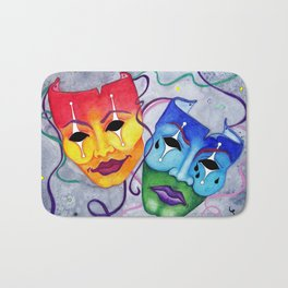 Comedy and Tragedy Bath Mat
