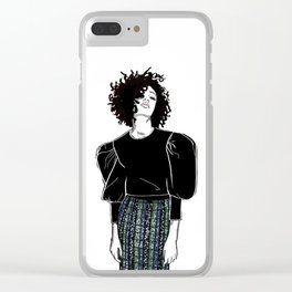 The sequin skirt Clear iPhone Case