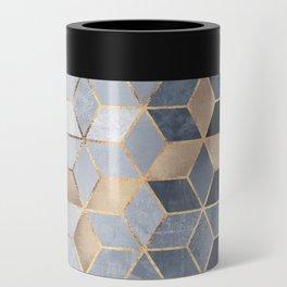 Soft Blue Gradient Cubes Can Cooler