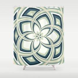 Spiral Rose Pattern E 3/4 Shower Curtain