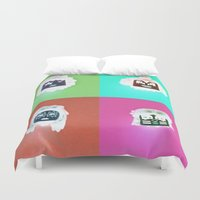 kiss Duvet Covers featuring Kiss by Beastie Toyz