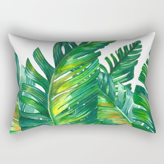 tropical green 2 Rectangular Pillow