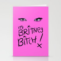 britney spears Stationery Cards featuring Britney Spears Eyes by Alli Vanes