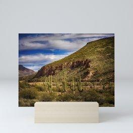 Saguaros in the Desert Mini Art Print