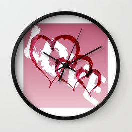 Triple Heart Love Wall Clock