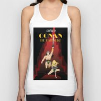 conan Tank Tops featuring Conan the Barbarian Minimalist Poster by Sean Breeding Arthouse