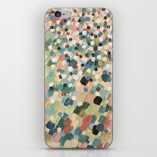 SWEPT AWAY 4 - Lovely Shabby Chic Soft Pink Ocean Waves Mermaid Splash Abstract Acrylic Painting iPhone & iPod Skin